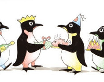 Party Time, Penguin Christmas Cards