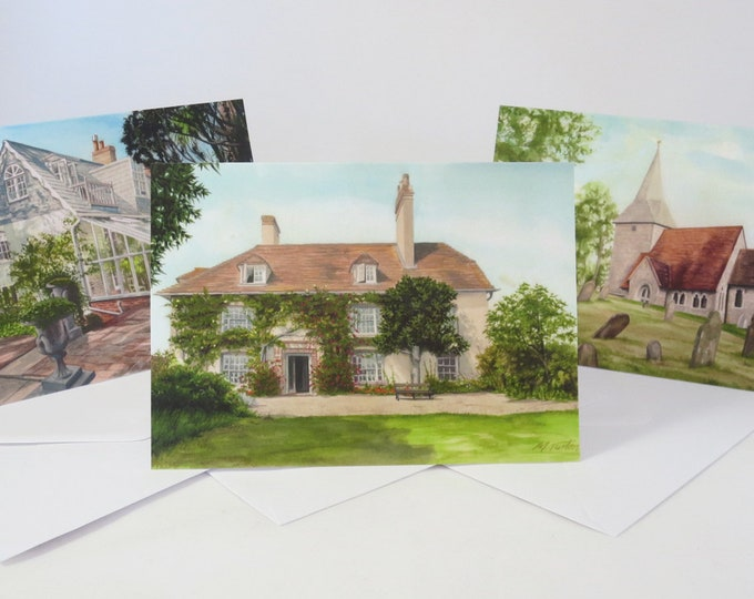Featured listing image: The Bloomsbury Trail 3 Cards in Set or Singles, Charleston, Monk's House, Berwick Church