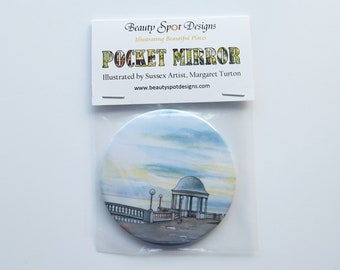 Bexhill Seafront Pocket Mirror