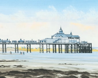 Eastbourne Pier Looking East, mounted print signed
