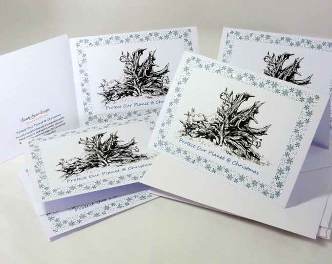 Featured listing image: Protect Our Planet Christmas Cards, pack of 6