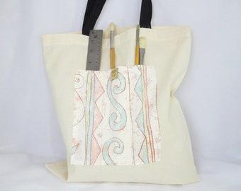 Artist's Tote Bag, Swirls and Curls, Creative Spirit