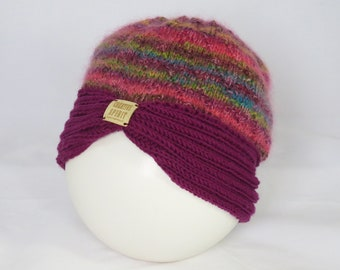 Hand Knitted Turban Style Hat