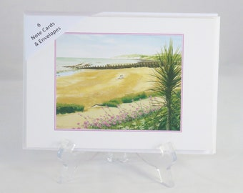 Pack of 6 Eastbourne Beach Note Cards