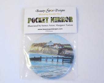 Coastguard Cottages Pocket Mirror