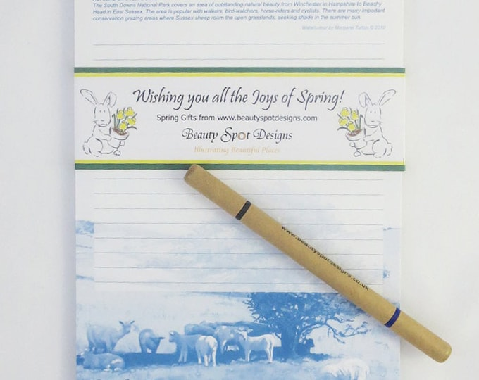 Featured listing image: Joys of Spring Message Pad A5 + pencil