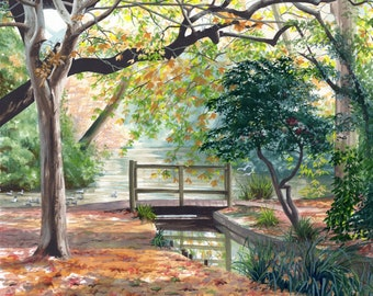 Autumn Light, watercolour painting