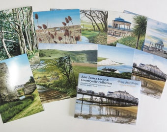 East Sussex Coast And Countryside Collection, 10 postcards