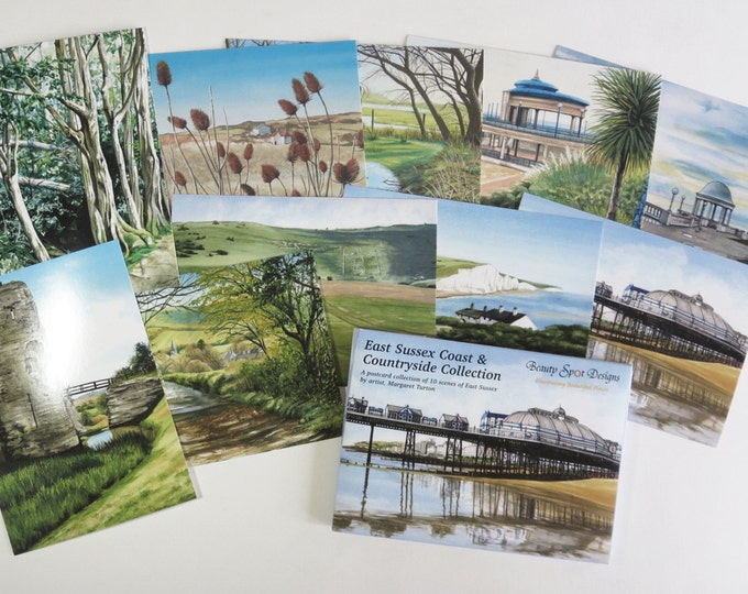 Featured listing image: East Sussex Coast And Countryside Collection, 10 postcards