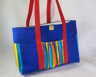 Large Art and Crafts Holdall Bag, Rainbow Stripes, Creative Spirit