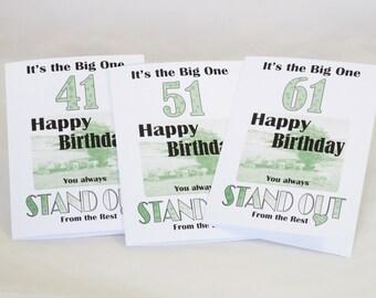 Milestone +1 Birthday Cards, 41st, 51st, 61st