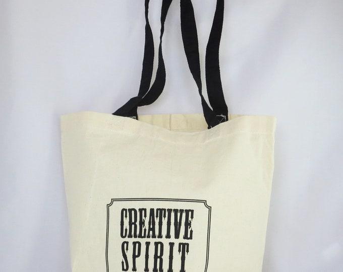 Featured listing image: Artist's Tote Bag, plain, Creative Spirit
