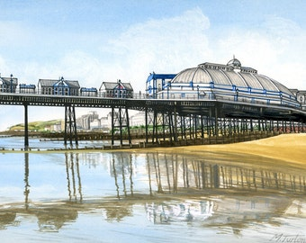 Eastbourne Pier Looking West, mounted print signed
