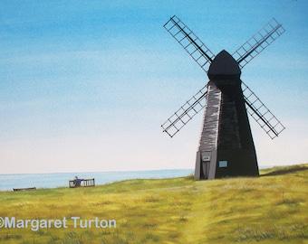 Rottingdean Windmill, watercolour painting