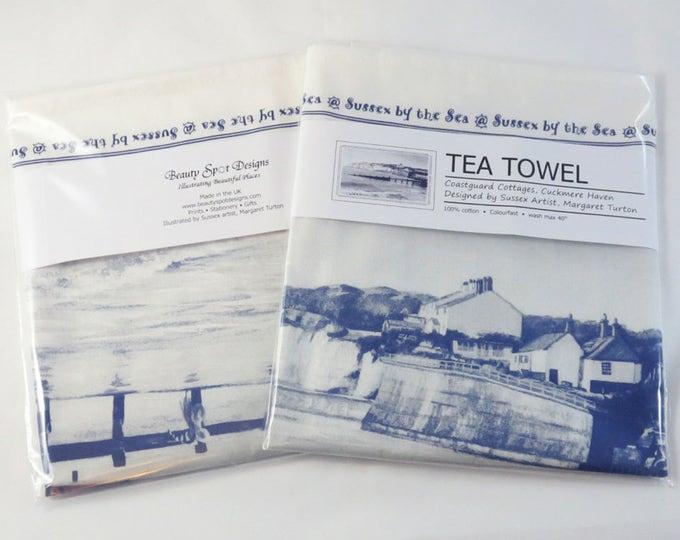 Featured listing image: Coastguard Cottages, Cuckmere Haven Tea Towel