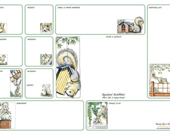 A3 Squirrel Scribbler Desk Planner