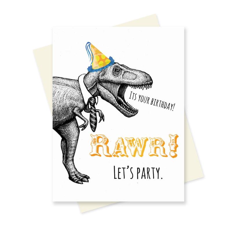 T Rex Birthday Card Dinosaur Boyfriend