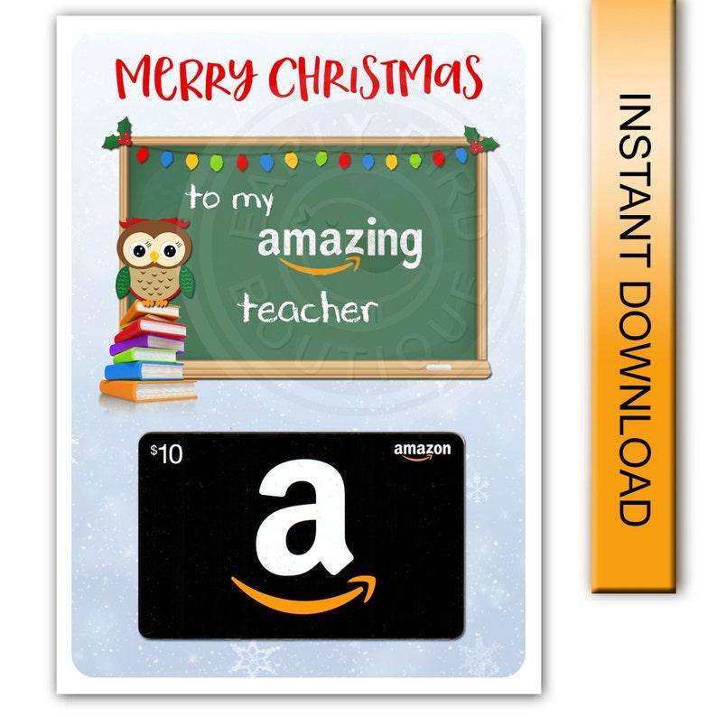 Printable Merry Christmas Amazon Gift Card Holder Amazing ...