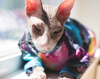 Devon Rex Special Pricing -Medium- PurrWear UV Sun Protection Suit for all Felines Sphynx and Peterbalds