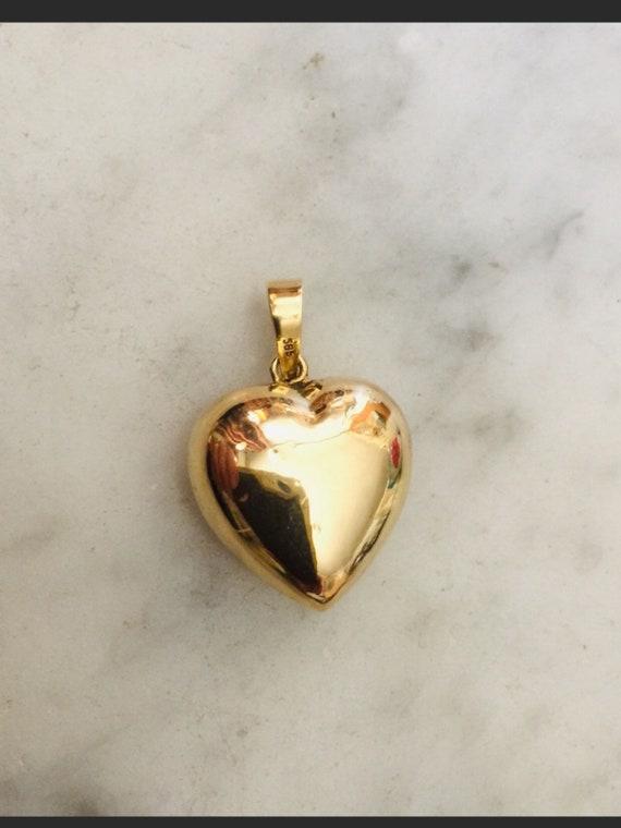 14k Puff Heart
