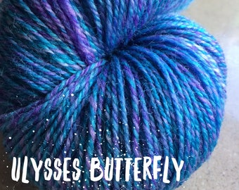 Elements Collection - Col Ulysses Butterfly Blue 4 ply supersoft 100% Merino
