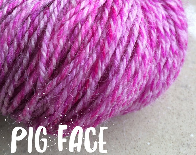 Elements Collection - Col Pig Face Pink 4 ply supersoft 100% Merino