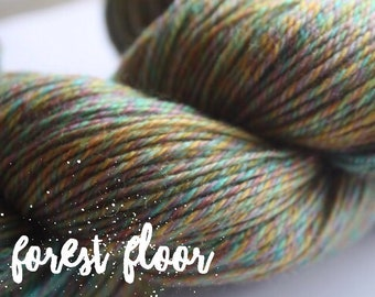 NEW COLOUR - Elements Collection - Col Forest Floor  4 ply supersoft 100% Merino