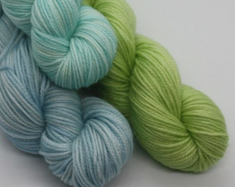 MYOGA - 'Blue Heaven' Baby Skeins - 100g 3 packs
