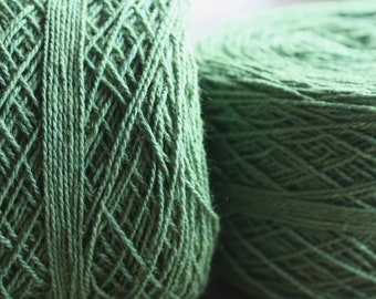 100% Hemp Yarn - Natural Dye - Col: 014 Indigo & Jackfruit - Green