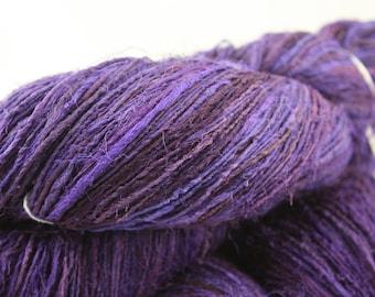 Handspun Recycled Mulberry Silk - Magenta