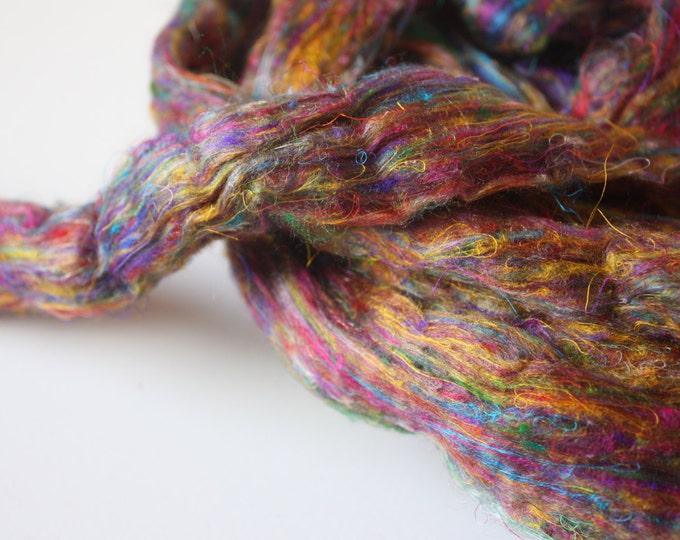 Mulberry & Sari Silk Fibre Sliver