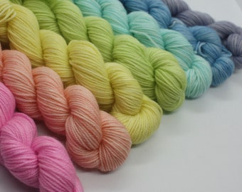 MYOGA - 'Rainbow' Baby Skeins - 185g 7 colour packs