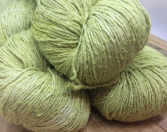 OAK Batch** Hand Dyed Slubby Eri Silk** Willow
