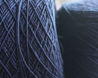 100% Hemp Yarn - Natural Dye - Col: 013 Indigo - Dark Navy