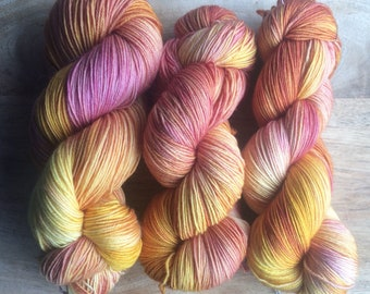 MYOGA Hand Dyed 4ply Superwash -'Free Spirit'