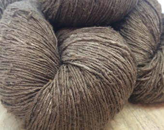 OAK Batch** Hand Dyed Slubby Eri Silk** Bronze