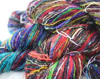 Handspun Recycled Mulberry Silk - Multicoloured