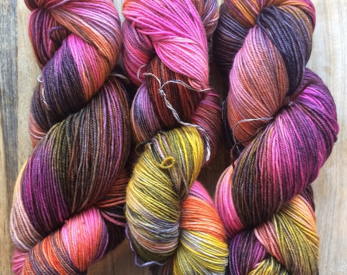 MYOGA Hand Dyed 4ply Superwash - 'Cathedral Glass'