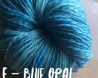 Elements Collection - Col Blue Opal 4 ply supersoft 100% Merino
