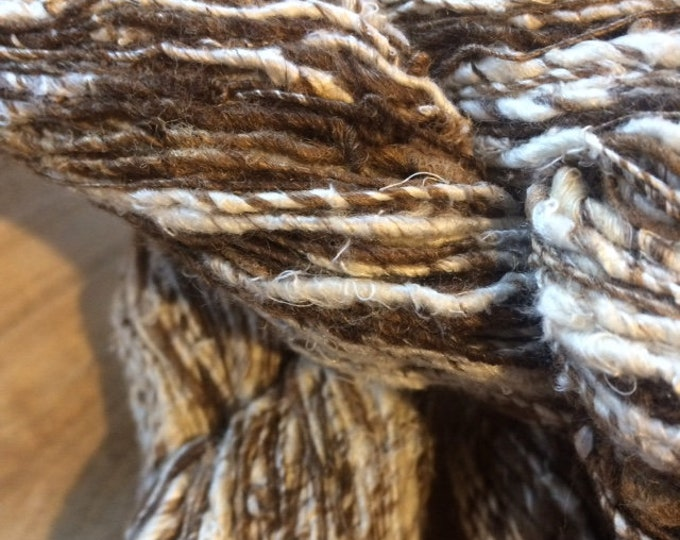 NEW***Tussar & Mulberry Noil Handspun Silk Yarn
