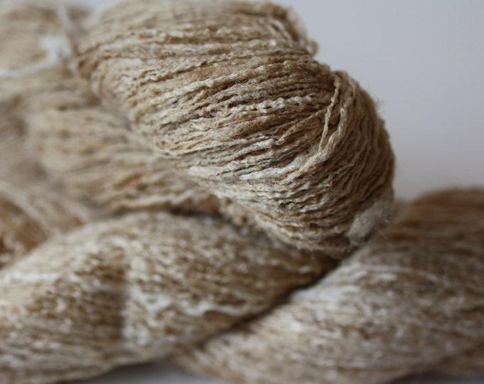 Bleached Tassar Ghicha Silk Yarn