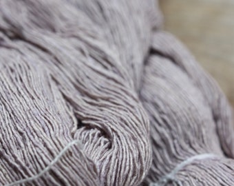 7/1 Handmade Mulberry Noil Silk  - Silver Mauve - Myrobalan/Alum
