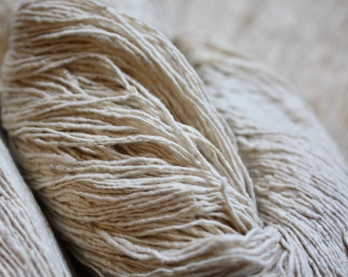 NEW****7/1 Handmade Mulberry Noil Silk Yarn