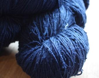 OAK Batch** Hand Dyed Slubby Eri Silk** Royal Blue