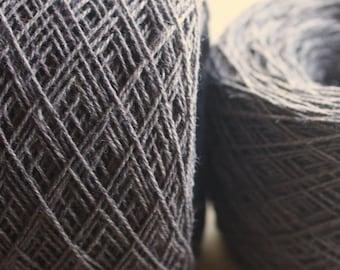100% Hemp Yarn - Natural Dye - Col: 009 Lac with Iron - Purple Charcoal