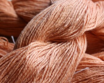 6/2 Natural Dyed 100% Linen - Salmon - Annatto Seeds