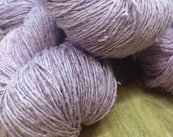 OAK Batch** Hand Dyed Slubby Eri Silk** MAUVE