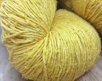 OAK Batch** Hand Dyed Slubby Eri Silk** Buttercup