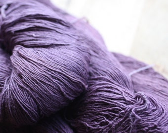 7/1 Handmade Mulberry Noil Silk  - Natural Plant Dyed - Grape Purple - Sappan Wood