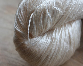 NEW*****15/2 Mulberry Silk - Shimmering natural white